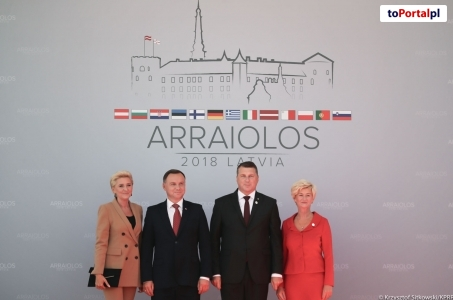 Prezydent na szczycie Grupy Arraiolos na Łotwie.