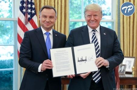 Sojusz między Polską i USA nigdy nie był tak mocny - konferencja Duda-Trump.
