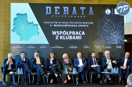 Warszawa. Debata na stadionie Legii Warszawa - fotorelacja.
