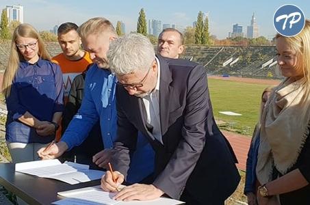 List intencyjny Klubu Skra i kandydata na prezydenta Warszawy Jacka Wojciechowicza.