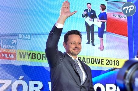 Warszawa. Wieczór wyborczy Koalicji Obywatelskiej.