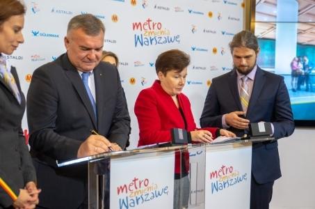 Warszawa z całą drugą linią metra.