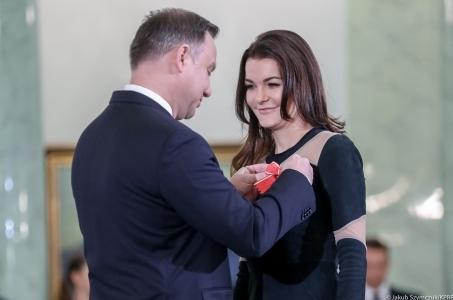Prezydent odznaczył Agnieszkę Radwańską.