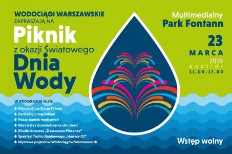 Warszawa. Światowy Dzień Wody w Multimedialnym Parku Fontann.