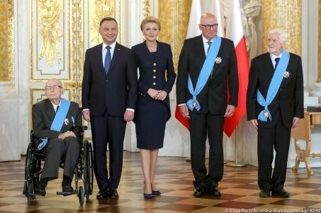 Trzej wybitni Polacy odznaczeni Orderem Orła Białego.