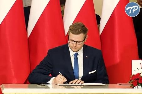 Michał Woś członkiem Rady Ministrów.