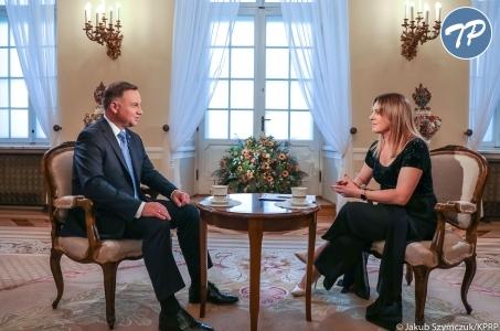 Tydzień w TVP - wywiad z Prezydentem RP Andrzejem Dudą.