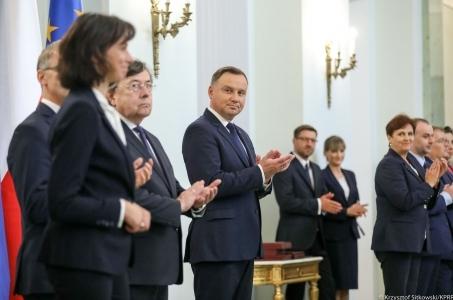 Prezydent RP Andrzej Duda wręczył nominacje sędziowskie.