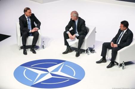 Andrzej Duda na spotkaniu przywódców NATO w Londynie.