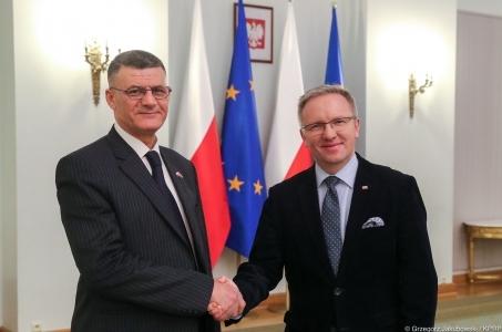 Spotkanie ministra Szczerskiego z chargé d'affaires Ambasady Republiki Iraku