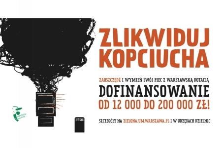 Warszawa. Dotacje na likwidację starych pieców - spotkania dla mieszkańców.