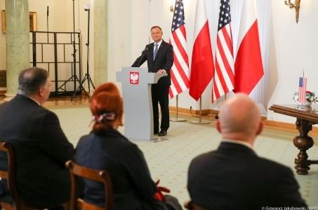 Prezydent: podpisanie umowy wojskowej z USA to kolejny etap współpracy.