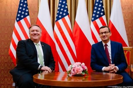 Premier Mateusz Morawiecki spotkał się z sekretarzem stanu USA Mike'iem Pompeo.