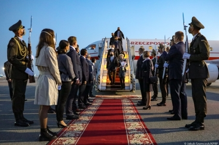 Para Prezydencka rozpoczęła wizytę na Ukrainie.