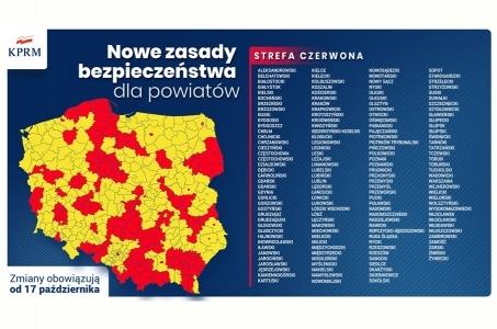 Nowe powiaty w strefie czerwonej!