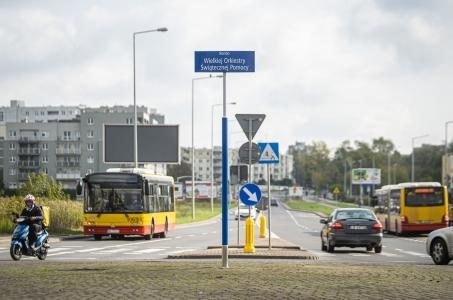 Warszawa.  Na Ursynowie mamy rondo im. Wielkiej Orkiestry Świątecznej Pomocy.