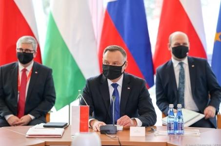 Andrzej Duda po Szczycie V4.