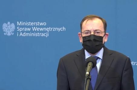 Minister Mariusz Kamiński: będziemy działać stanowczo wobec osób, które wyłamują się ze społecznej solidarności.