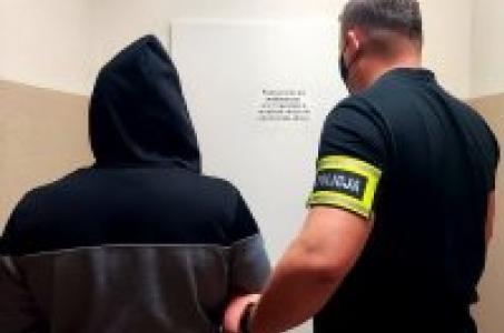 Policjanci zatrzymali sprawcę napadu na aptekę.