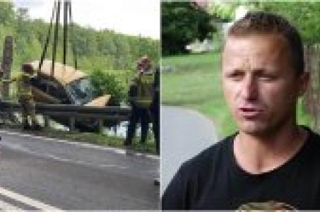 Uratował kobietę z tonącego samochodu - teraz bohater sam potrzebuje pomocy.